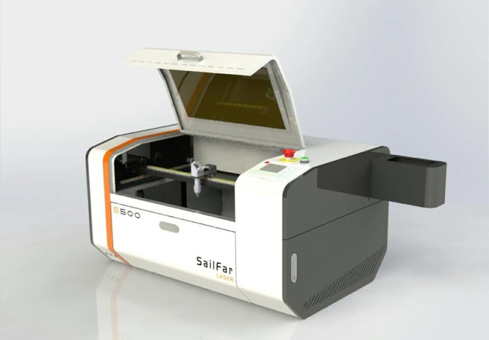 Small 50W Miniature Laser Engraving Machine , Industrial Laser Cutter Engraver